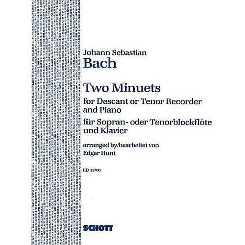 Schott 2 Minuets (Soprano or Tenor Recorder and Piano) Schott Series