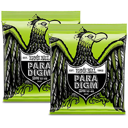 Ernie Ball 2 Pack- Paradigm Regular Slinky Electric Guitar Strings Bundle