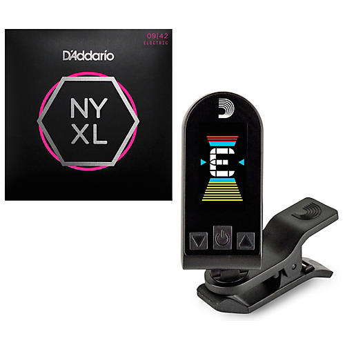 D'Addario 2 Sets of NYXL Premium Electric Guitar Strings with Equinox Tuner