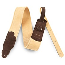 "Franklin Strap 2.5"" Honey Suede Guitar Strap with Chocolate Ends"