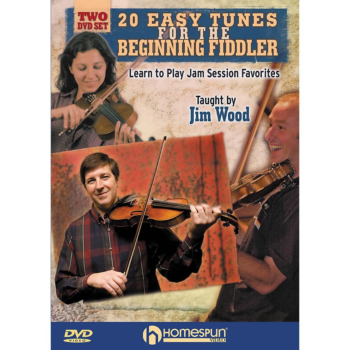 Homespun 20 Easy Tunes for the Beginning Fiddler Homespun Tapes Series DVD Written by Jim Wood