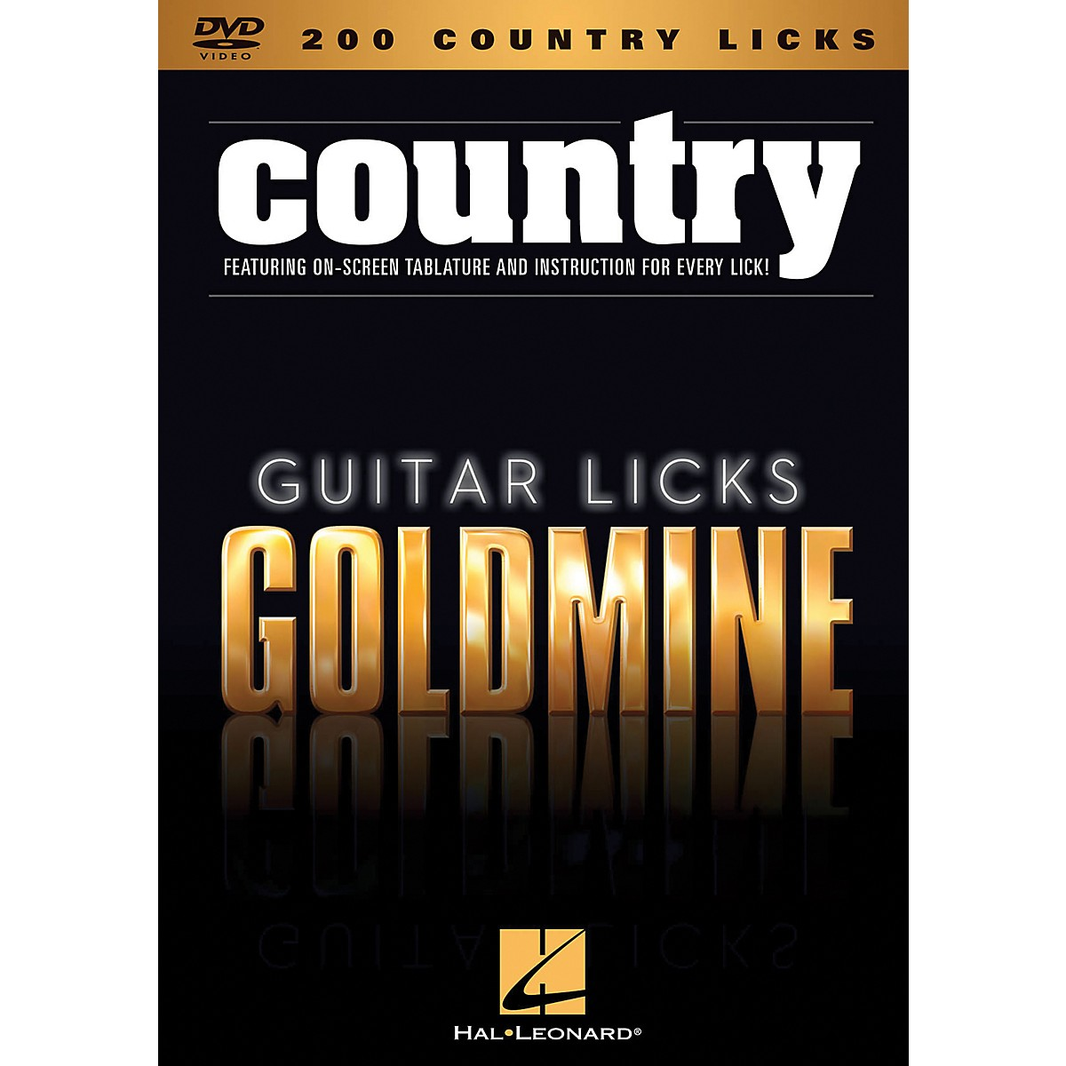 Hal Leonard 200 Country Licks - Guitar Licks Goldmine DVD Series