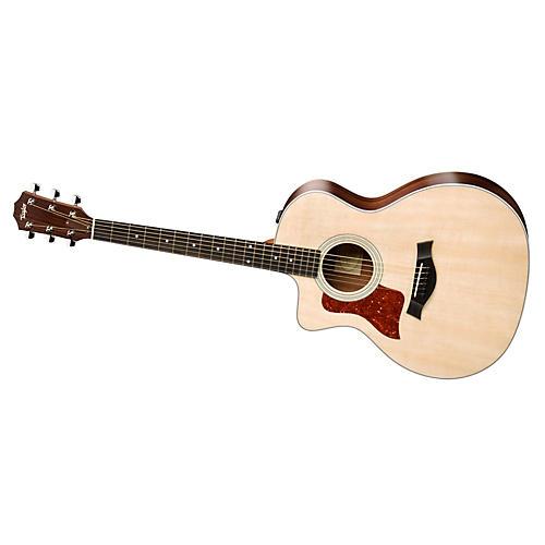 Taylor 200 Series 2014 214ce-L  Grand Auditorium Left-Handed Acoustic-Electric Guitar