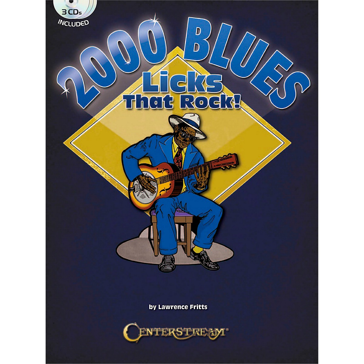 Centerstream Publishing 2000 Blues Licks That Rock Book/3CDs