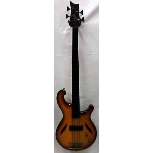 Dean 2000s Edge Fretless Semi Hollow Electric Bass Guitar