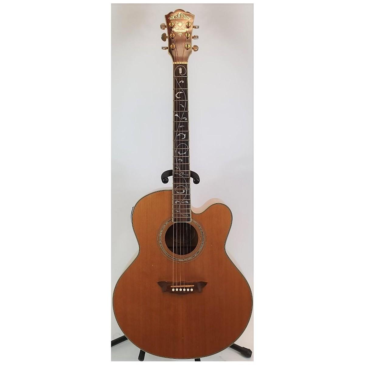 Washburn 2001 J28SCEDLM Cumberland Tree Of Life Acoustic Electric Guitar
