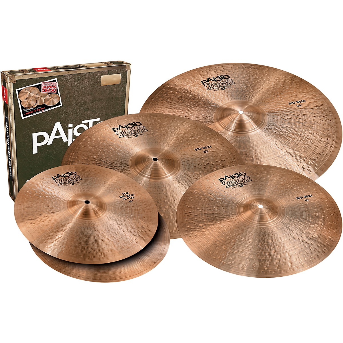 Paiste 2002 Big Beat Big Sound Box Set with Free 18 in. Cymbal