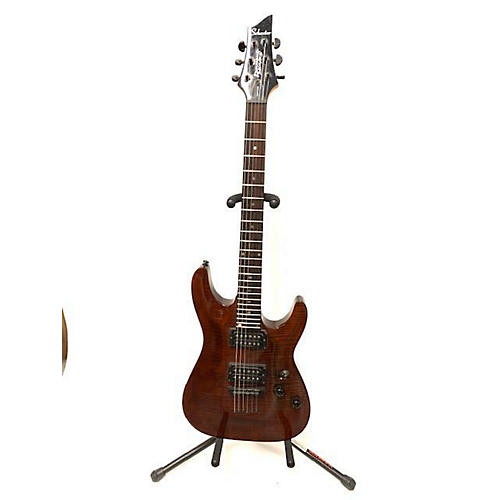 used schecter guitar research 2005 gryphon diamond series solid body electric guitar trans brown. Black Bedroom Furniture Sets. Home Design Ideas