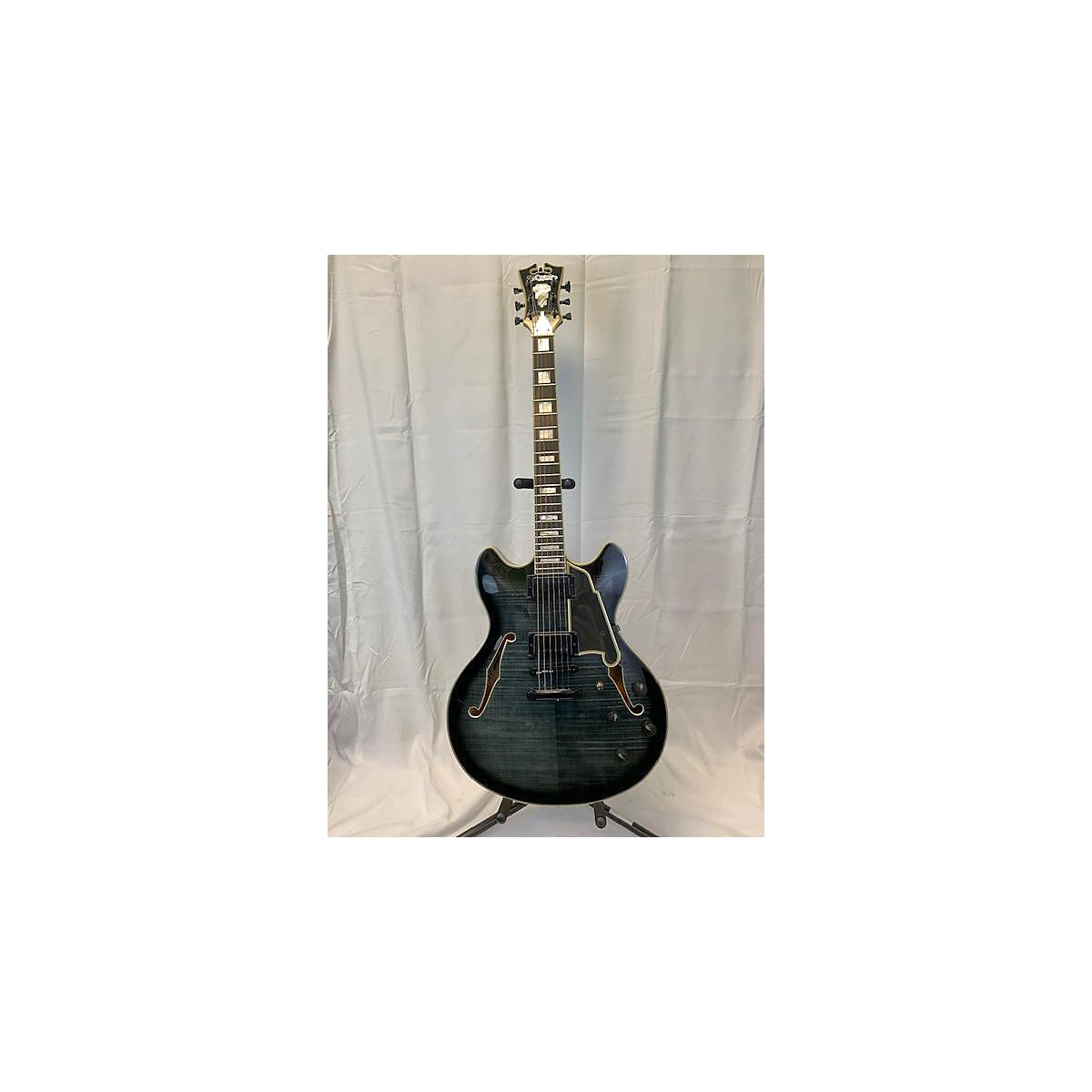 D'Angelico 2010s EX-DC Flame Top & Back Hollow Body Electric Guitar