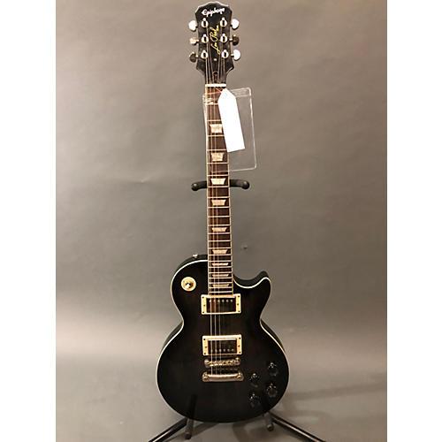 used epiphone 2010s tribute les paul standard solid body electric guitar trans black guitar center. Black Bedroom Furniture Sets. Home Design Ideas
