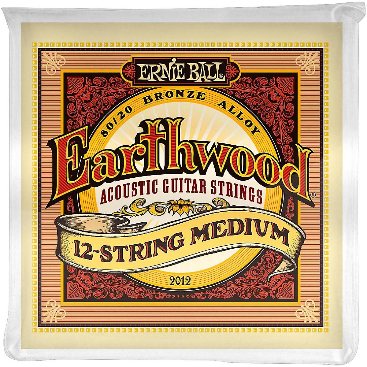 Ernie Ball 2012 Earthwood 80/20 Bronze 12-String Medium Acoustic Guitar Strings