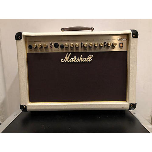 Marshall 2014 AS50D 50W 2X8 White Acoustic Guitar Combo Amp