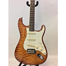 Fender 2014 American Select Stratocaster Exotic Quilt Top Solid Body Electric Guitar