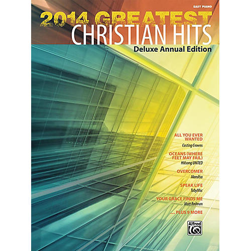 Alfred 2014 Greatest Christian Hits Easy Piano Book