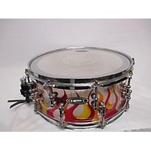 Orange County Drum & Percussion 2016 6X14 Custom Vented Flame Acrylic Drum