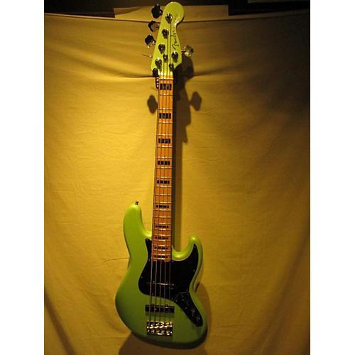 used fender 2016 american elite jazz bass 5 string electric bass guitar seafoam green pearl w. Black Bedroom Furniture Sets. Home Design Ideas