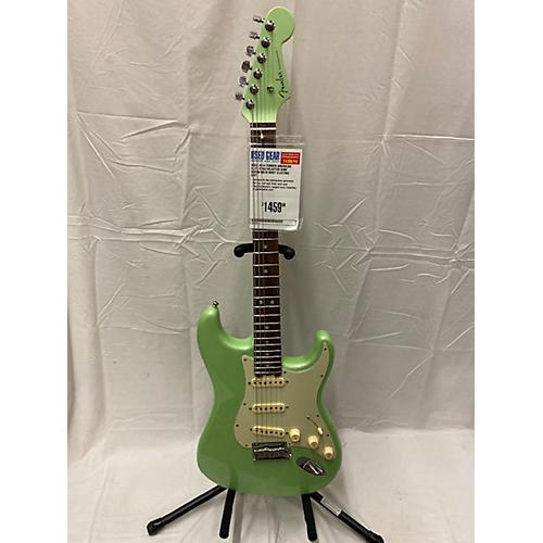 used fender 2016 american elite stratocaster solid body electric guitar surf green guitar center. Black Bedroom Furniture Sets. Home Design Ideas