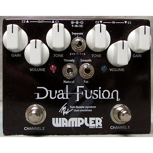 Wampler 2016 Dual Fusion Tom Quayle Signature Overdrive Effect Pedal