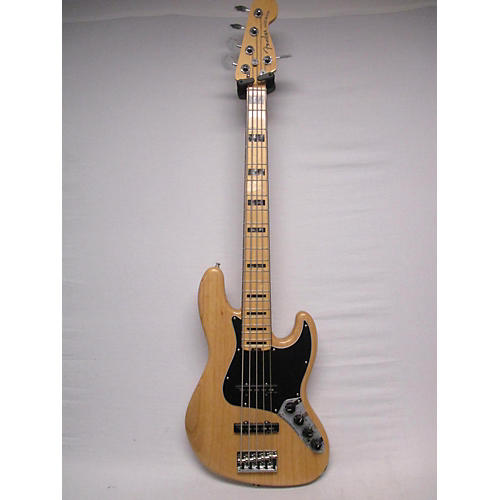 used fender 2017 american elite jazz bass 5 string electric bass guitar natural guitar center. Black Bedroom Furniture Sets. Home Design Ideas