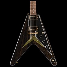 2018 Flying V Mahogany TV Electric Guitar TV Black Gold Black Pickguard