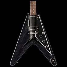 2018 Flying V Mahogany TV Electric Guitar TV Black Silver Black Pickguard
