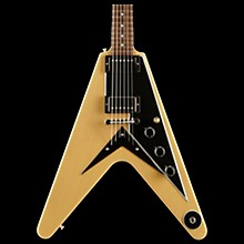 2018 Flying V Mahogany TV Electric Guitar TV Yellow Black Pickguard