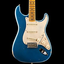 2018 NAMM Limited Edition Fat Head Relic Stratocaster Electric Guitar Faded Aged Lake Placid Blue