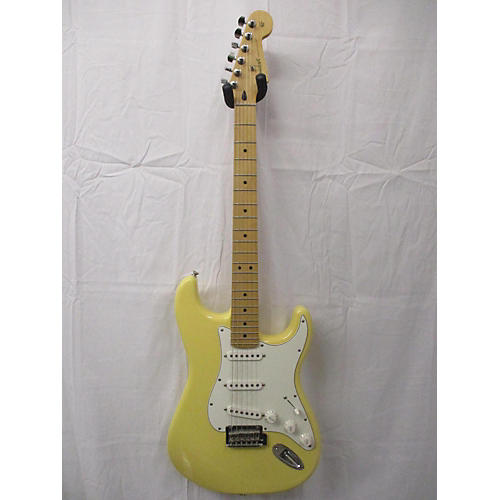 used fender 2018 player stratocaster solid body electric guitar yellow guitar center. Black Bedroom Furniture Sets. Home Design Ideas
