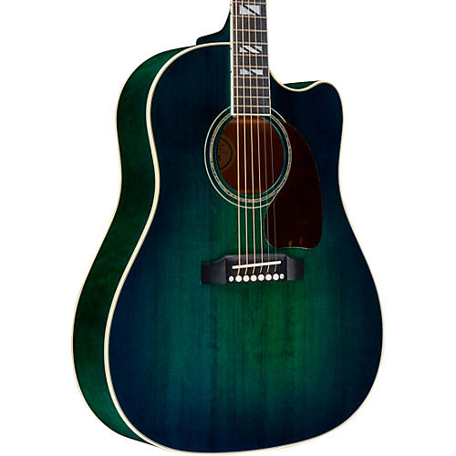 Gibson 2019 J 45 Chroma Acoustic Electric Guitar Teal Burst Guitar