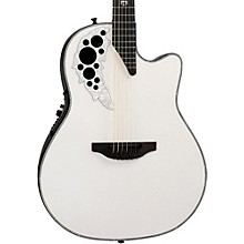 Ovation 2078ME-6P Melissa Etheridge Signature Acoustic-Electric Guitar Level 1 Pearl White