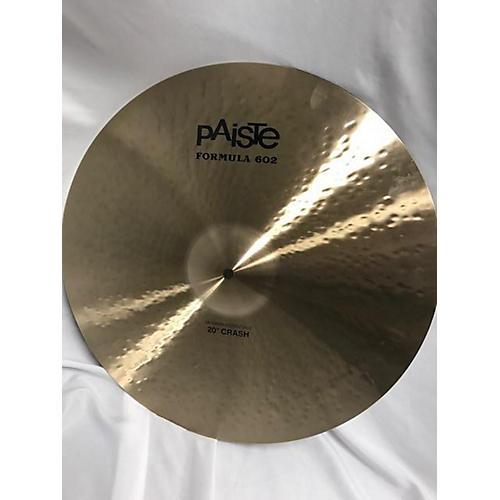 Paiste 20in Formula 602 Modern Dynamic Crash Cymbal