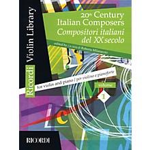 Ricordi 20th Century Italian Composers (Volume 1 Violin and Piano) MGB Series Softcover