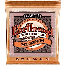 Ernie Ball 2144 Earthwood Phosphor Bronze Medium Acoustic Guitar Strings