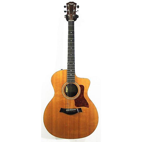 used taylor 214ce acoustic electric guitar natural guitar center. Black Bedroom Furniture Sets. Home Design Ideas