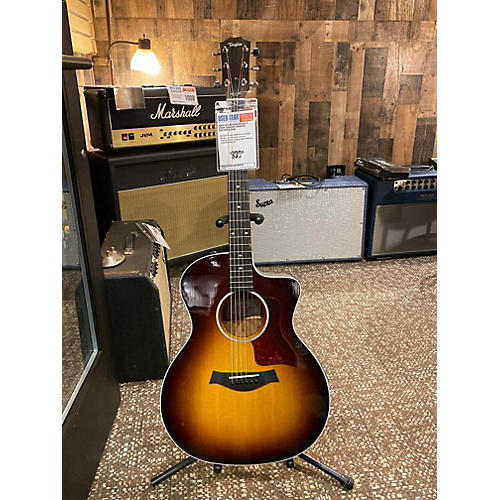 used taylor 214ce deluxe acoustic electric guitar 2 color sunburst guitar center. Black Bedroom Furniture Sets. Home Design Ideas