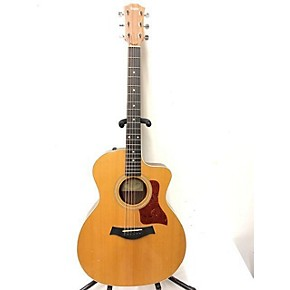 used taylor 214e deluxe acoustic electric guitar natural guitar center. Black Bedroom Furniture Sets. Home Design Ideas