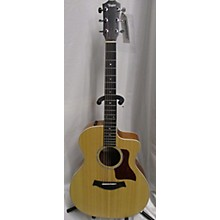 Taylor 214cefs Deluxe Figured Sapele Acoustic Electric Guitar