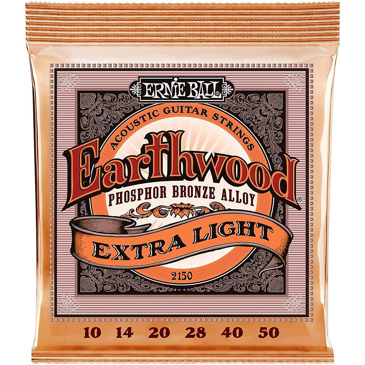 Ernie Ball 2150 Earthwood Phosphor Bronze Extra Light Acoustic Guitar Strings