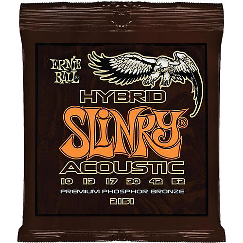 Ernie Ball 2151 Hybrid Slinky Acoustic Guitar Strings