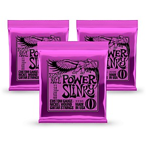 ernie ball 2220 power slinky nickel round wound electric guitar strings 3 pack guitar center. Black Bedroom Furniture Sets. Home Design Ideas