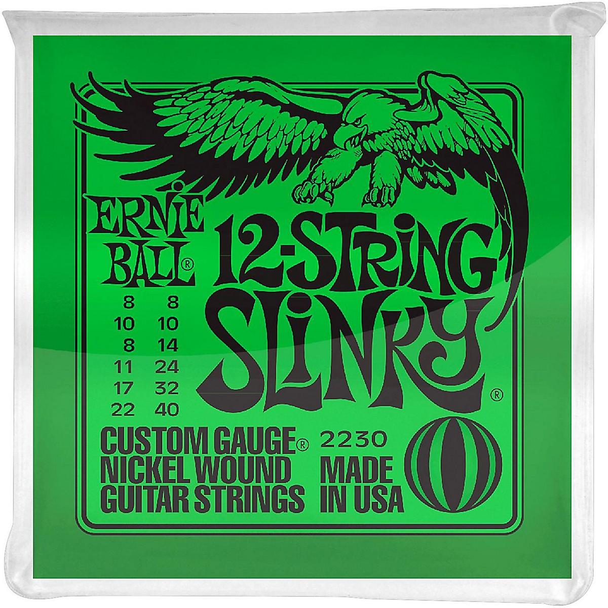 Ernie Ball 2230 Nickel 12-String Slinky Electric Guitar Strings