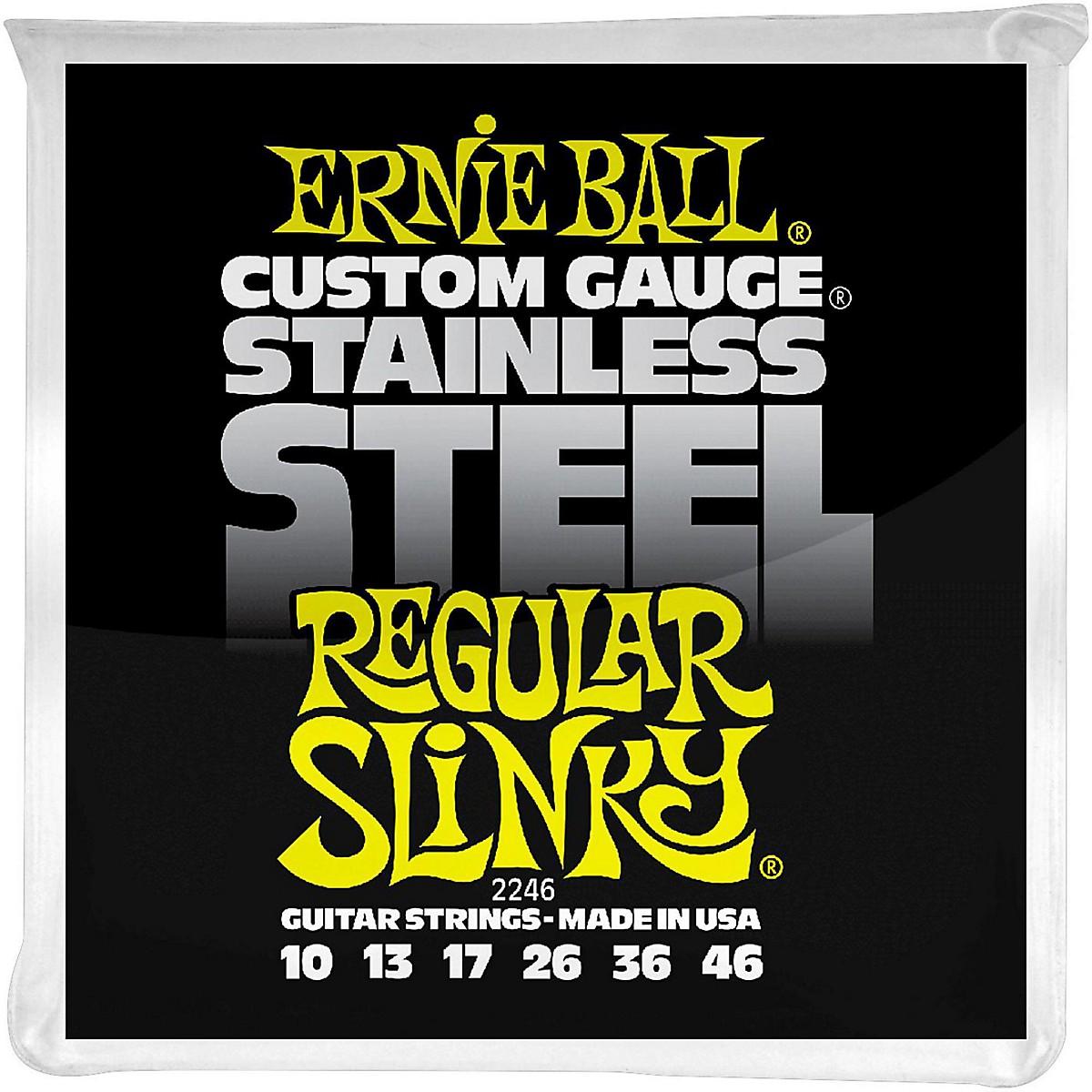 Ernie Ball 2246 Stainless Steel Regular Slinky Electric Guitar Strings