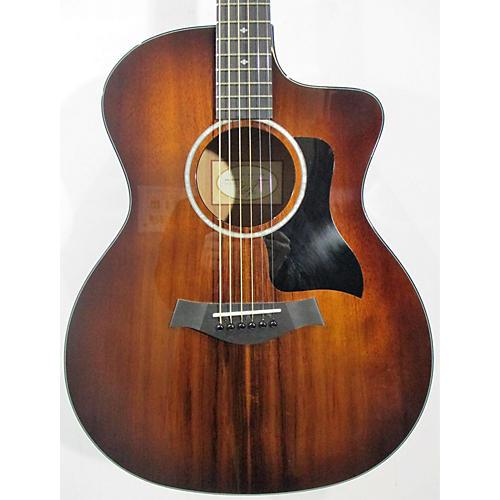 used taylor 224ce koa deluxe acoustic electric guitar natural guitar center. Black Bedroom Furniture Sets. Home Design Ideas