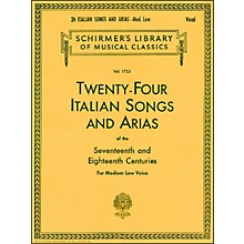 G. Schirmer 24 Italian Songs And Arias for Medium Low Voice Book Only