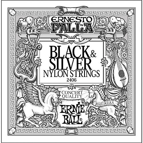 Ernie Ball 2406 Ernesto Palla Nylon Black And Silver Classical