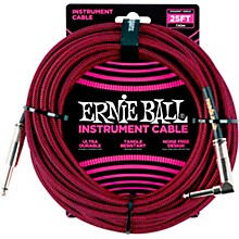 Ernie Ball 25 FT Straight to Angle Instrument Cable Level 1  Red/Black