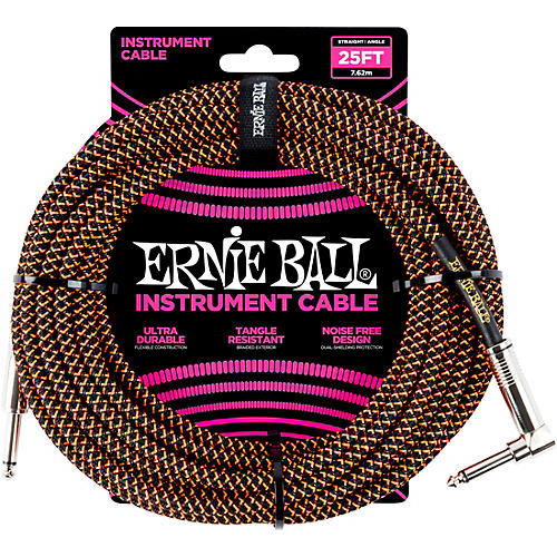 Ernie Ball 25 FT Straight to Angle Instrument Cable