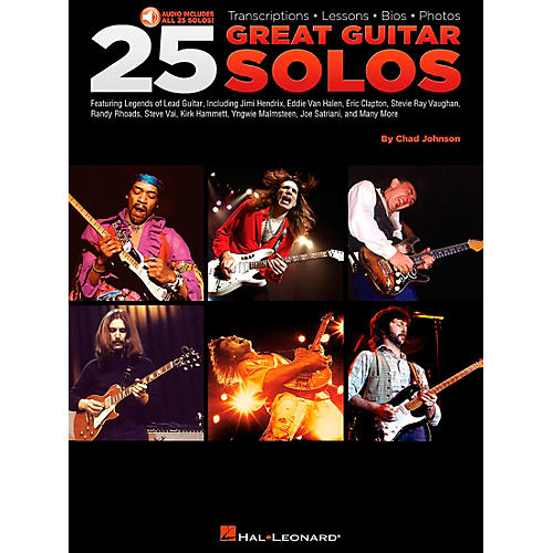 Hal Leonard 25 Great Guitar Solos Tab Songbook with CD