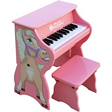 25-Key Toy Piano with Bench Pink