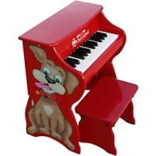 25-Key Toy Piano with Bench Red